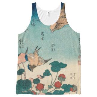 Regata Com Estampa Completa Vintage Shrike de Hokusai e arte de GalleryHD do