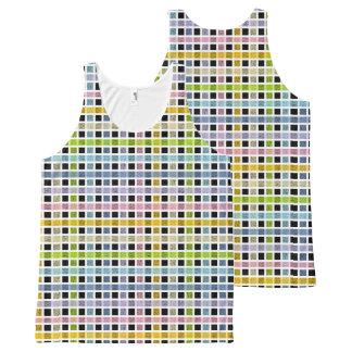 Regata Com Estampa Completa Weave Pastel esboçado branco do arco-íris