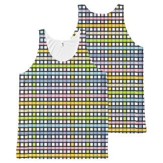 Regata Com Estampa Completa Weave Pastel esboçado preto do arco-íris