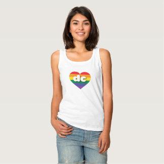 Regata coração do arco-íris do orgulho gay da C.C. - mini