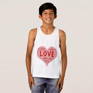 Regata Coração ilustrado com palavra do amor