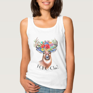 Regata Coroa floral dos cervos chiques boémios