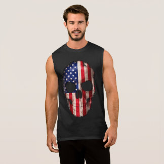 Regata Crânio imprimido da bandeira americana