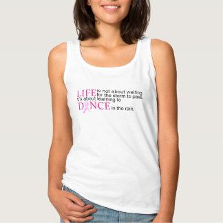 Regata Dança na camisola de alças da consciência do