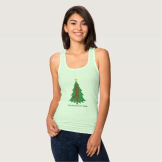 """Regata De """"camisola de alças da pose da árvore Natal"""""""