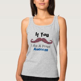 Regata Design patriótico do t-shirt do bigode americano