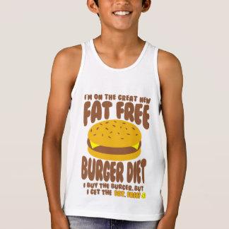 Regata Dieta livre de gordura do hamburguer