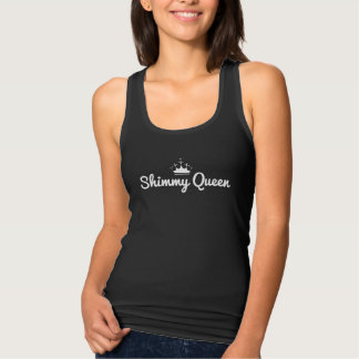 """Do """"camisola de alças da rainha Shimmy"""" com coroa"""