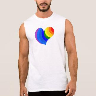 """Regata Do """"T branco do coração arco-íris"""" do partido"""