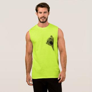 Regata Dos homens t-shirt sem mangas do algodão ultra