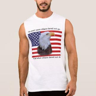 Regata Eagle patriótico e bandeira dos EUA