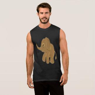 Regata Elefante do bebê do ouro que olha no céu