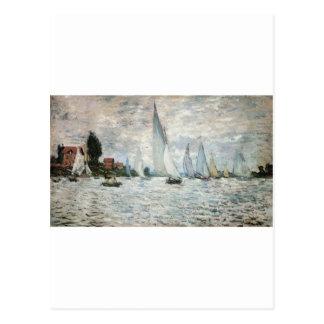 Regata em Argenteuil, Claude Monet Cartão Postal