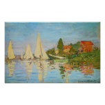 Regata em Argenteuil por Claude Monet Pôsteres