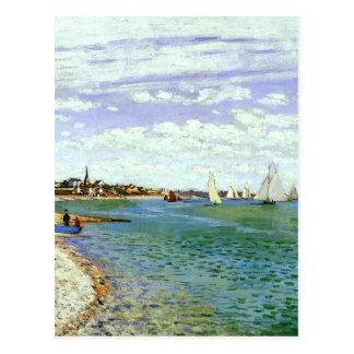 Regata em Sainte-Adresse por Claude Monet Cartão Postal