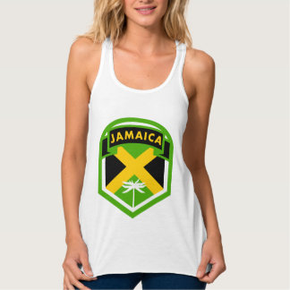 Regata Estilo jamaicano da crista da bandeira
