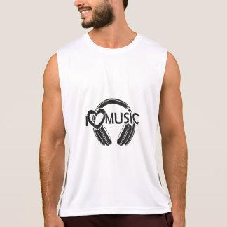 Regata Eu amo fones de ouvido da música