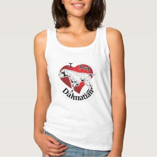 Regata Eu amo meu Dalmatian engraçado & bonito adorável