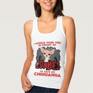 Regata Eu empurrá-lo-ia na frente da chihuahua dos zombis