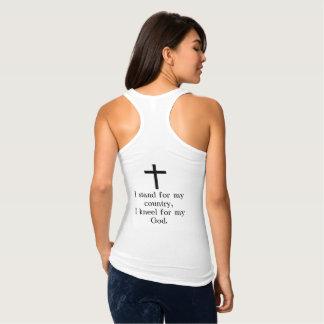 Regata Eu represento o t-shirt do Racerback da minha