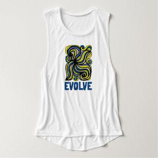 """Regata """"Evolua"""" a camisola de alças do músculo do Flowy"""
