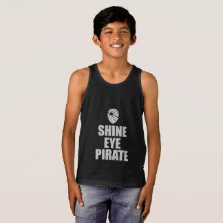 Regata Eyepatch do pirata do olho do brilho. Texto claro