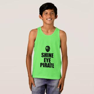 Regata Eyepatch do pirata do olho do brilho. Texto escuro