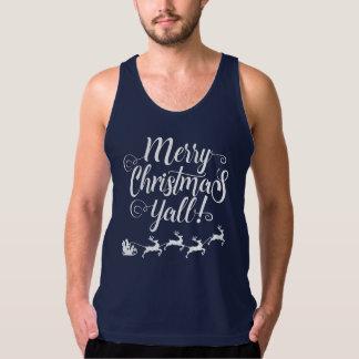Regata Feliz Natal você camisola de alças do Natal |
