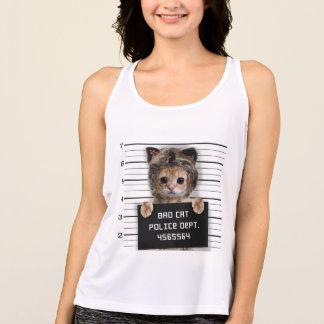 Regata gato do mugshot - gato louco - gatinho - felino