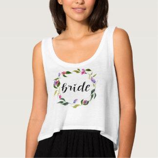 Regata Grinalda floral da aguarela escrita à mão do