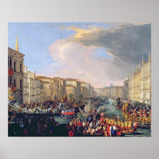 Regata guardarada em honra de Frederick VI de Dina Pôsteres