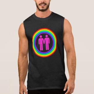 Regata Homens alegres do casal do arco-íris