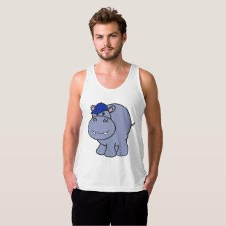 Regata Homens do tanque do hipopótamo (brancos)