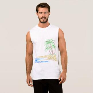 Regata Ilha tropical ilustrada com as cidades de Florida
