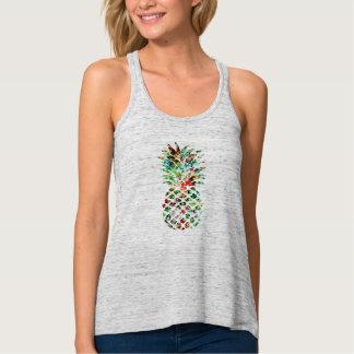 Regata Impressão tropical do abacaxi da flor