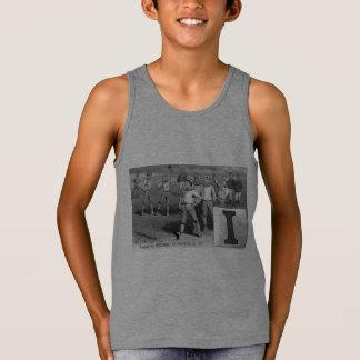 Regata Inicial dos meninos do basebol mim vintage das