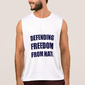 Regata Liberdade de defesa da camisola de alças do ódio