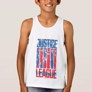Regata Liga de justiça pop art azul & vermelho de | do
