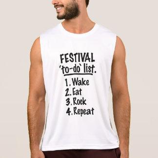 Regata Lista do tumulto do ` do festival' (preto)
