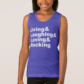 Regata Living&Laughing&Loving&ROCKING (branco)