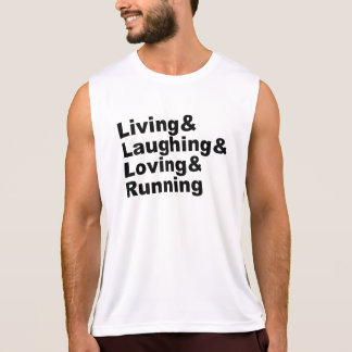 Regata Living&Laughing&Loving&RUNNING (preto)