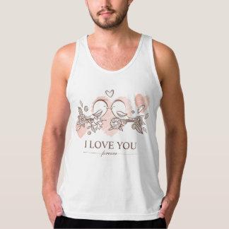 Regata Lovebirds adoráveis na camisola de alças dos
