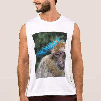 Regata Macaco triste sobre segunda-feira