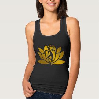 Regata Meditação dourada da ioga da flor de Lotus legal