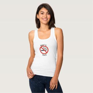 Regata Não sugue o t-shirt da mulher