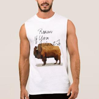 """Regata O búfalo dos homens """"vagueia se você quer"""" Muscle"""
