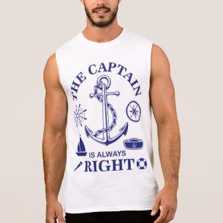 Regata O capitão é sempre - capitão Engraçado - marinho