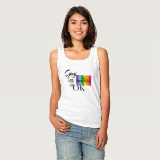 Regata O gay do orgulho de LGBTQIA é ok.OK bonito. Amor