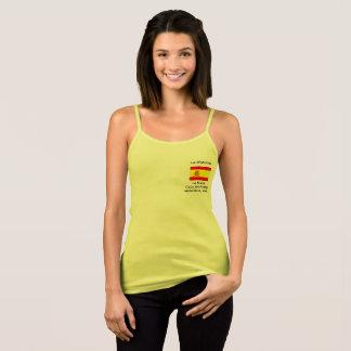 Regata O t-shirt das mulheres com bandeira espanhola