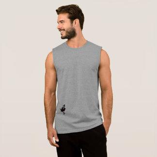 Regata O t-shirt sem mangas dos homens básicos